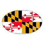 Marylandblank.png Sticker (Oval 50 pk)