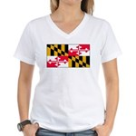 Marylandblank.png Women's V-Neck T-Shirt