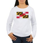 Marylandblank.png Women's Long Sleeve T-Shirt