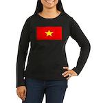 Vietnamblank.jpg Women's Long Sleeve Dark T-Shirt