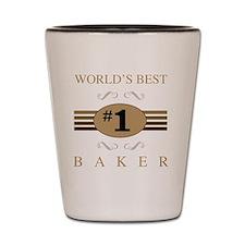World's Best Baker Shot Glass