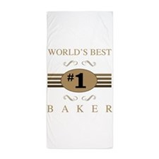 World's Best Baker Beach Towel