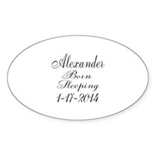 Personalizable Born Sleeping Stickers