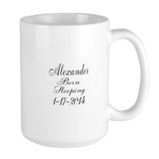 Personalizable Born Sleeping Mugs