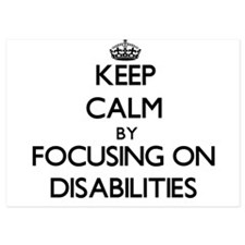 Keep Calm by focusing on Disabilities Invitations