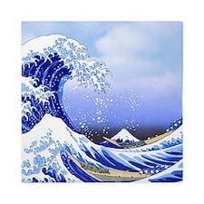Surf's Up! Hokusai Great Wave Queen Duvet