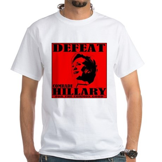 Defeat Comrade Hillary White T-Shirt
