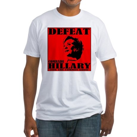 Defeat Comrade Hillary Fitted T-Shirt