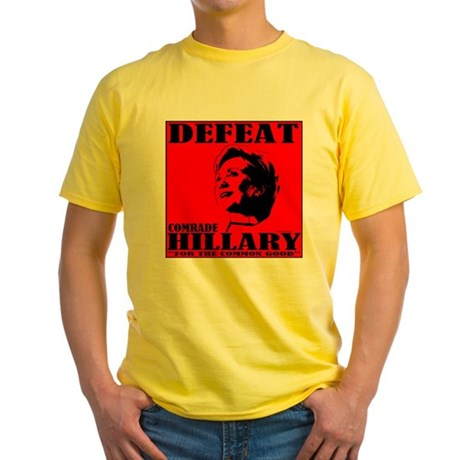 Defeat Comrade Hillary Yellow T-Shirt