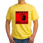 Defeat Comrade Hillary Yellow T-Shirt
