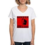 Defeat Comrade Hillary Women's V-Neck T-Shirt