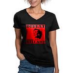 Defeat Comrade Hillary Women's V-Neck Dark T-Shirt