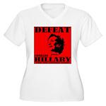 Defeat Comrade Hillary Women's Plus Size V-Neck T-