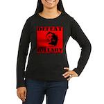 Defeat Comrade Hillary Women's Long Sleeve Dark T-