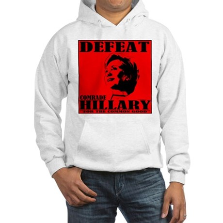 Defeat Comrade Hillary Hooded Sweatshirt