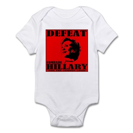 Defeat Comrade Hillary Infant Bodysuit