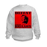 Defeat Comrade Hillary Kids Sweatshirt