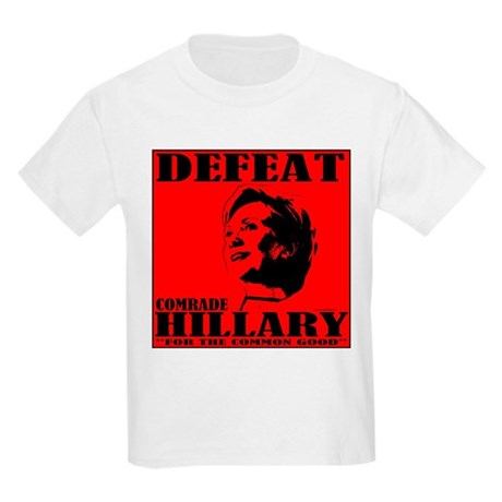 Defeat Comrade Hillary Kids Light T-Shirt