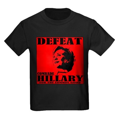 Defeat Comrade Hillary Kids Dark T-Shirt