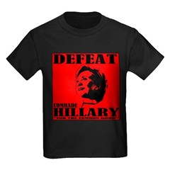 Defeat Comrade Hillary Kids Dark T-Shirt