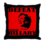 Defeat Comrade Hillary Throw Pillow