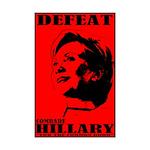 Defeat Comrade Hillary Mini Poster Print