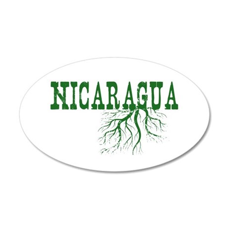 Nicaragua Roots 20x12 Oval Wall Decal