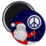 Santa Claus Peace Sign Magnet