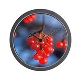 Wall Clock:  Highbush Cranberries