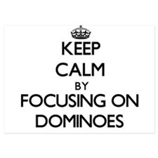 Keep Calm by focusing on Dominoes Invitations