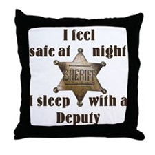 Safe at Night Deputy Throw Pillow