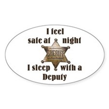 Safe at Night Deputy Oval Decal