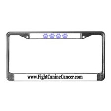 Fight Canine Cancer License Plate Frame