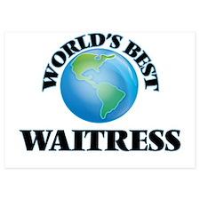 World's Best Waitress Invitations