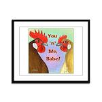 You N Me Babe! Framed Panel Print