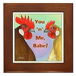 You N Me Babe! Framed Tile