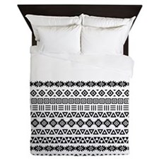 Aztec Influence Part Ptn (iii) Bw Queen Duvet