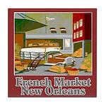 French Market Tile Coaster