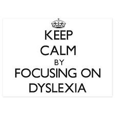 Keep Calm by focusing on Dyslexia Invitations