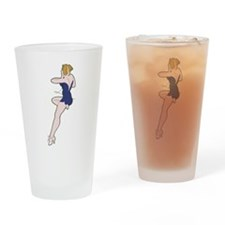 miss_belle_blue_B-17 Flying Fortres Drinking Glass