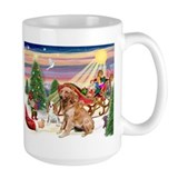 Santa's Treats for Cavalier & Golden Mug