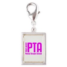 Physical Therapist Assistant Silver Portrait Charm
