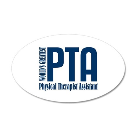 Physical Therapist Assistant 20x12 Oval Wall Decal