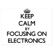 Keep Calm by focusing on ELECTRONICS Invitations