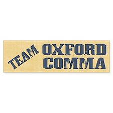 Team Oxford Comma Bumper Stickers