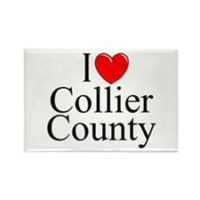 """I Love Collier County"" Rectangle Magnet"