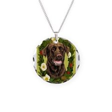 Cute Chocolate labradors Necklace