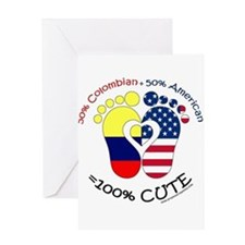 Colombian American Baby Greeting Cards