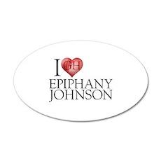 I Heart Epiphany Johnson 22x14 Oval Wall Peel