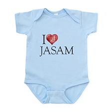 I Heart Jasam Infant Bodysuit
